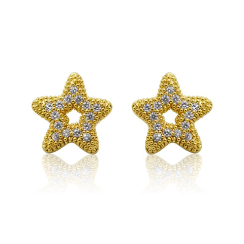 Pearl Studs - Mini Gold