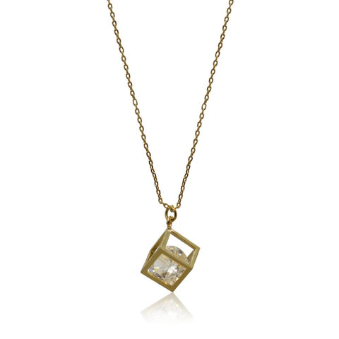 Gold Crystal Third Eye Necklace - Protection - As Seen on Victoria Lynn