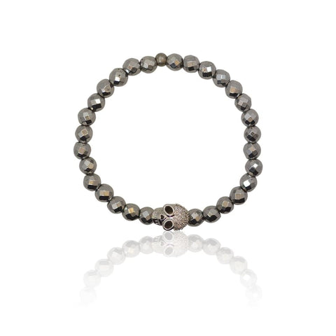 Crystal Cross  Adjustable Bracelet - Silver