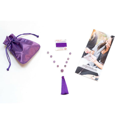 Diy Mala Kit - Amethyst - Crown Chakra Mala Kit