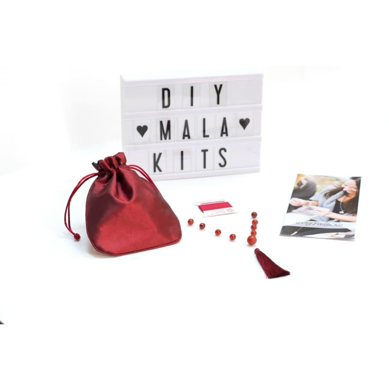 DIY Mala Kit - Carnelian- Sacral Chakra mala kit
