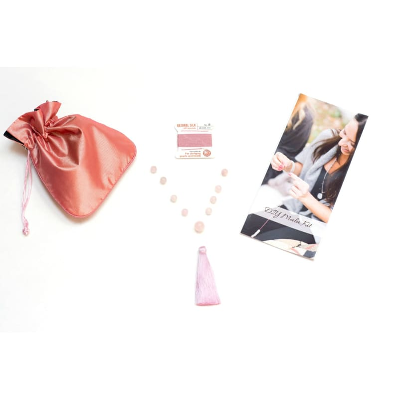 Diy Mala Kit - Rose Quartz - Love And Healing - Heart Chakra Mala Kit