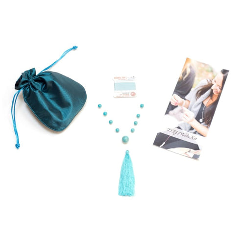 Diy Mala Kit - Turquoise - Throat Chakra Mala Kit