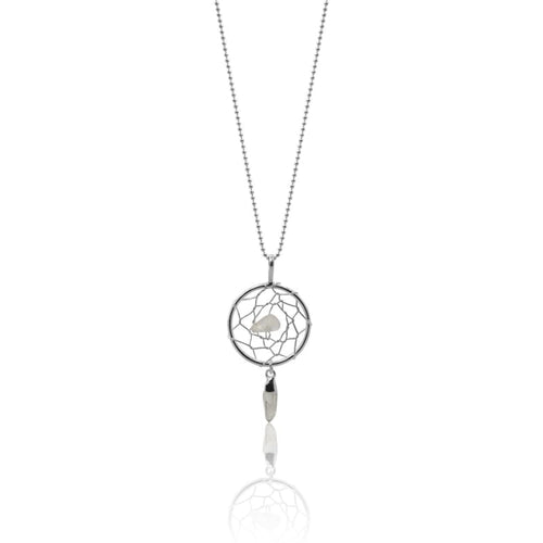 Dream Catcher Quartz Necklace - Silver Necklace