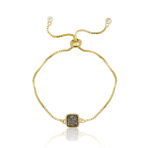 Crystal Cross  Adjustable Bracelet - Gold