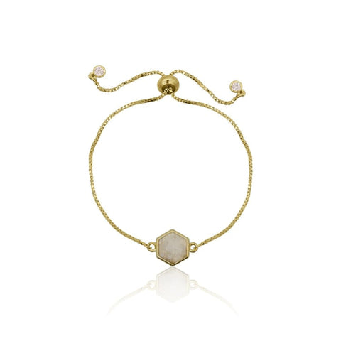 Zig Zag Adjustable Gold Bracelet