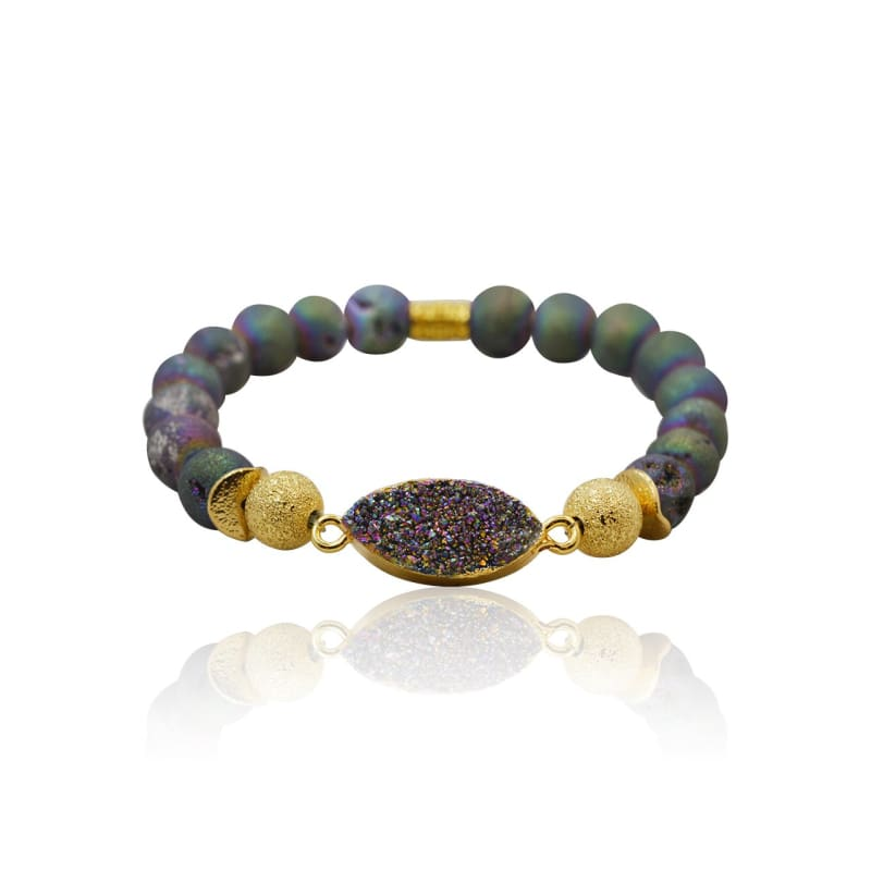 Druzy Purple Stretch Bracelet bracelet