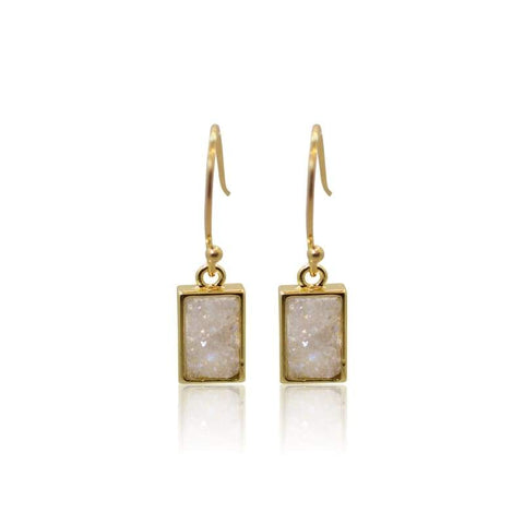Triangle - Mixed Metal Earrings