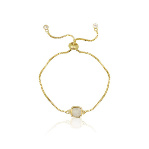 Gold Crystal Ball Stretch Bracelet