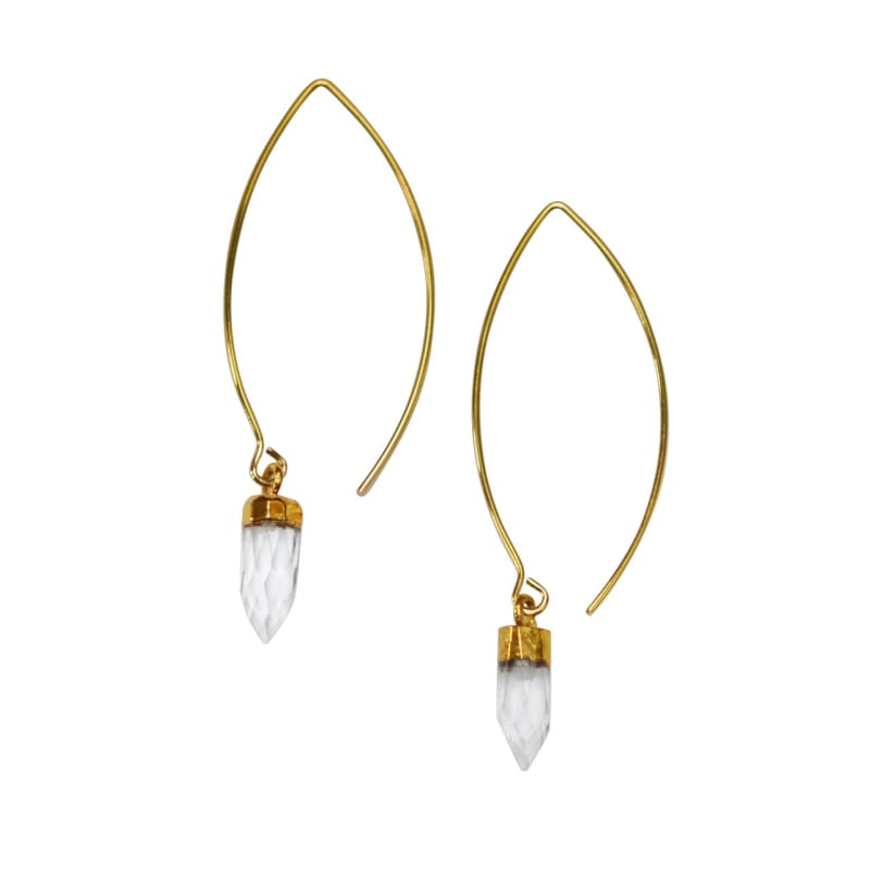 Elegant Quartz Spike Earrings Earrings