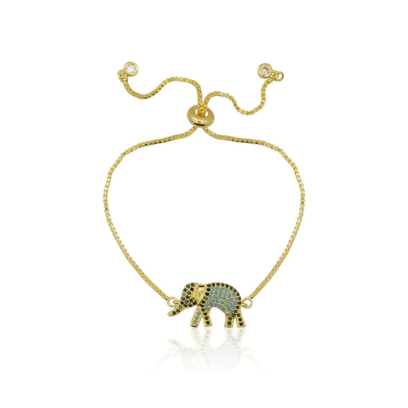 Elephant - Adjustable Gold Bracelet Bracelet