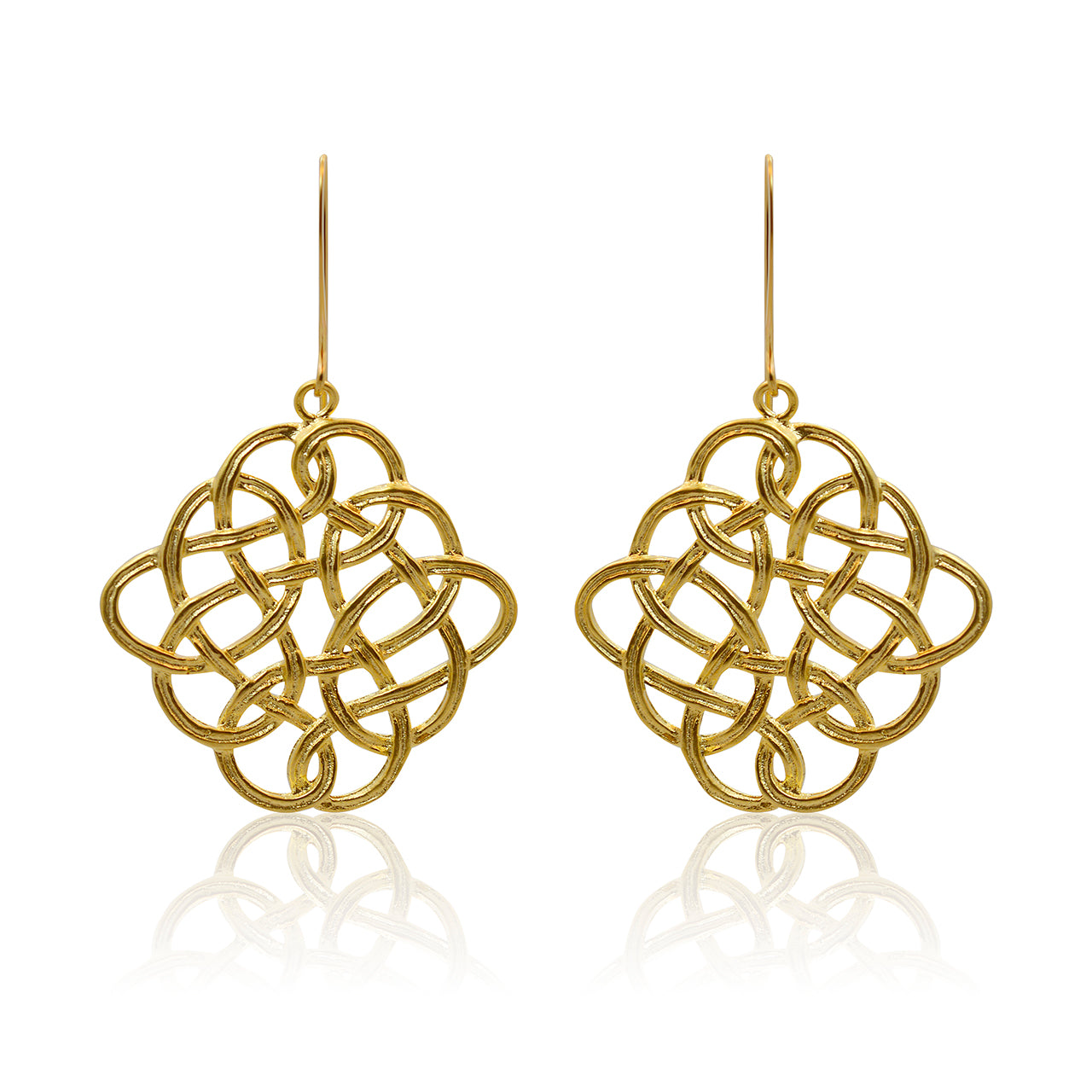 Eternity - Brushed Gold Celtic Knot Earrings - Editors Best Picks in Ottawa Life