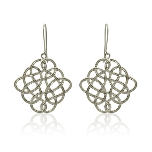 Eternity - Brushed Silver Celtic Knot Earrings Collections