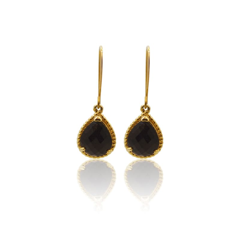 Exquisite - Black & Gold Earrings