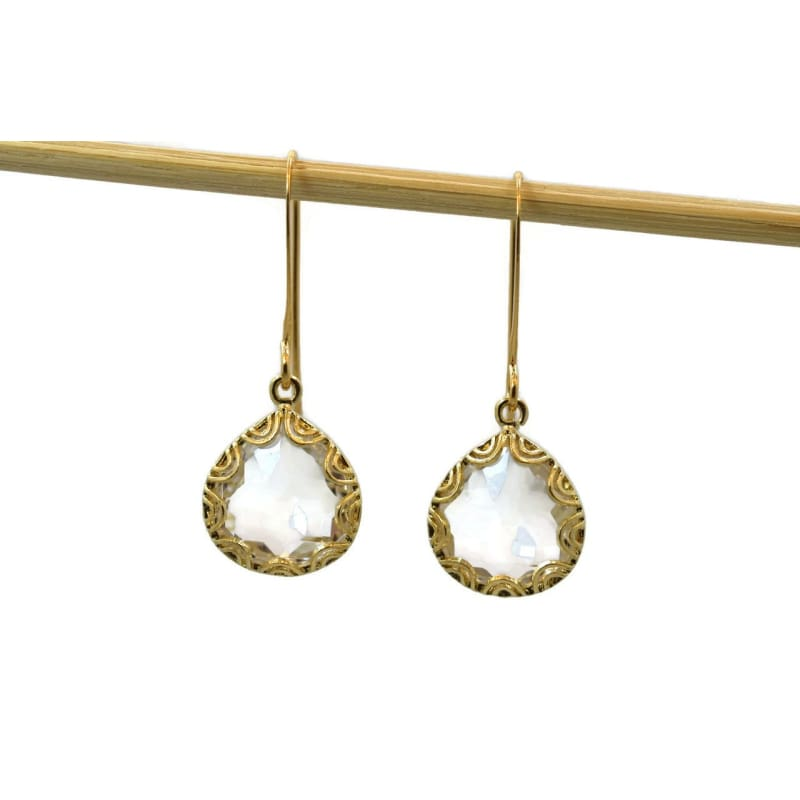 Fancy - Clear Gold Earrings Earrings