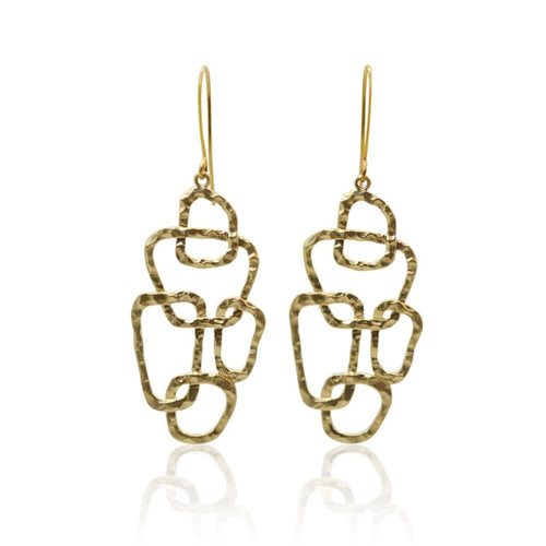 Geometry - Gold Statement Earrings Earrings