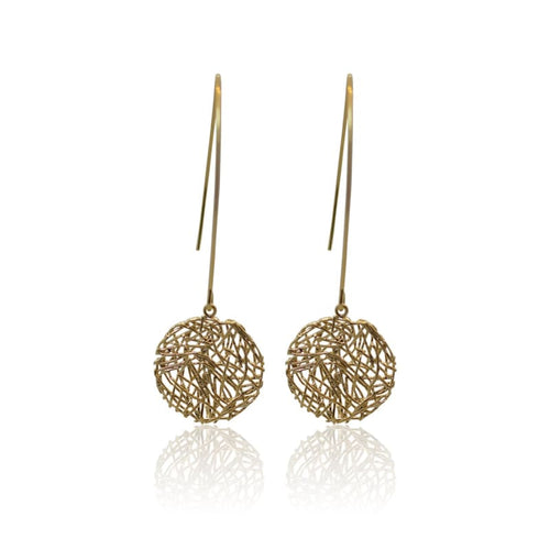 Global Connection - Round Gold Earrings