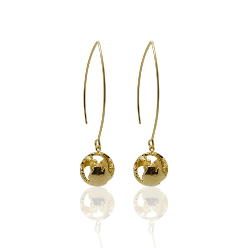 Globe - Gold Earrings Earrings