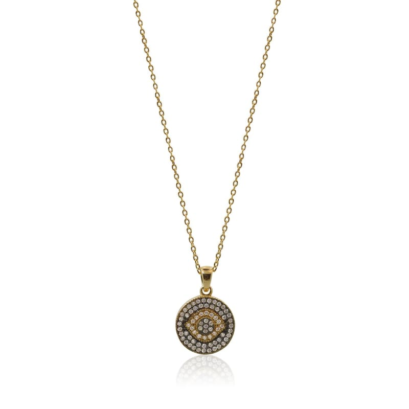 Gold Crystal Third Eye Necklace - Protection - As Seen On Victoria Lynn Necklace
