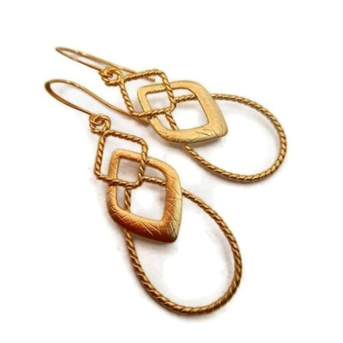 Gold Rope Earrings Earrings