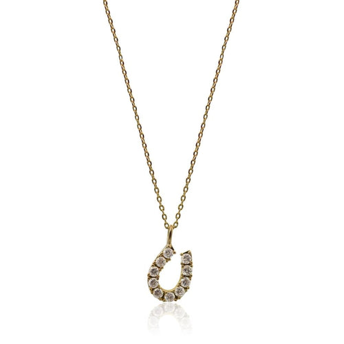 Good Luck Crystal Horseshoe Necklace - As Seen On Baby Daddy Necklace