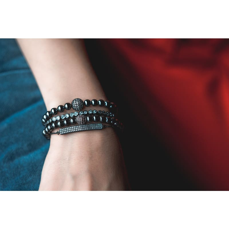 Gunmetal Bar - Adjustable Bracelet Bracelet