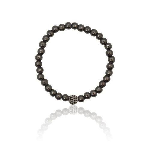 Gunmetal Crystal Ball Black - Bracelet bracelet