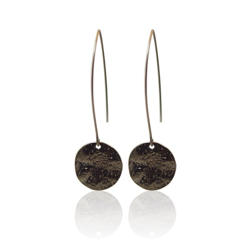 Gunmetal Disc Earrings Earrings