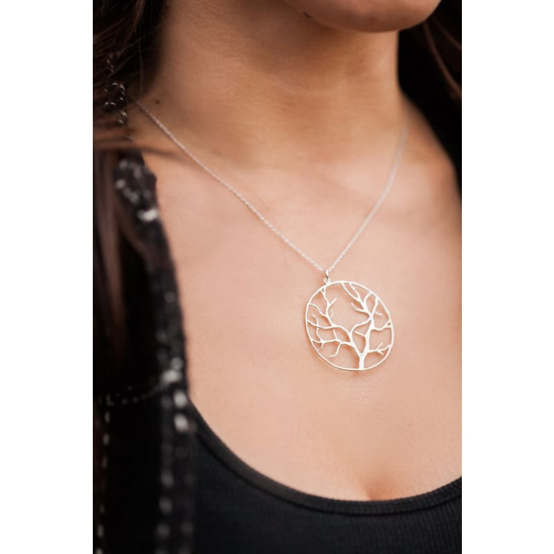 Harvest Tree - Silver Necklace