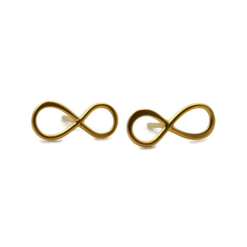 Infinity Stud Earrings - Gold Earrings