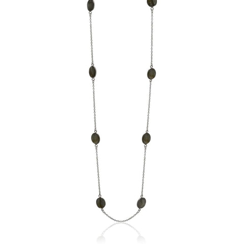 Brushed Metal Zen Drops - long funky earrings