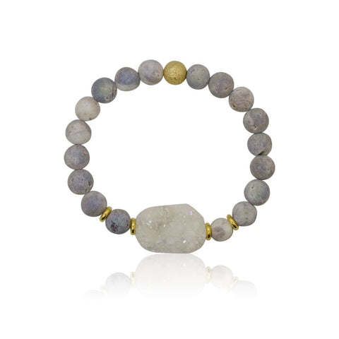 Jasper double strand stretch bracelet