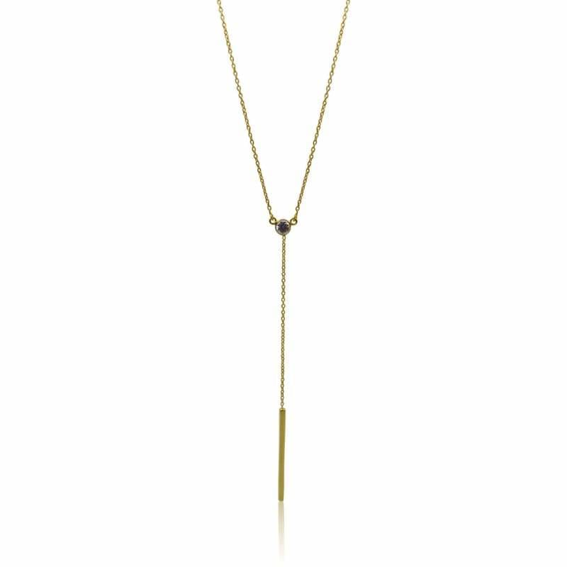 Lariat - Mystic Topaz & Gold Necklace