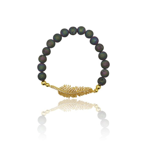 Butterfly Adjustable Gold Bracelet - Slanted