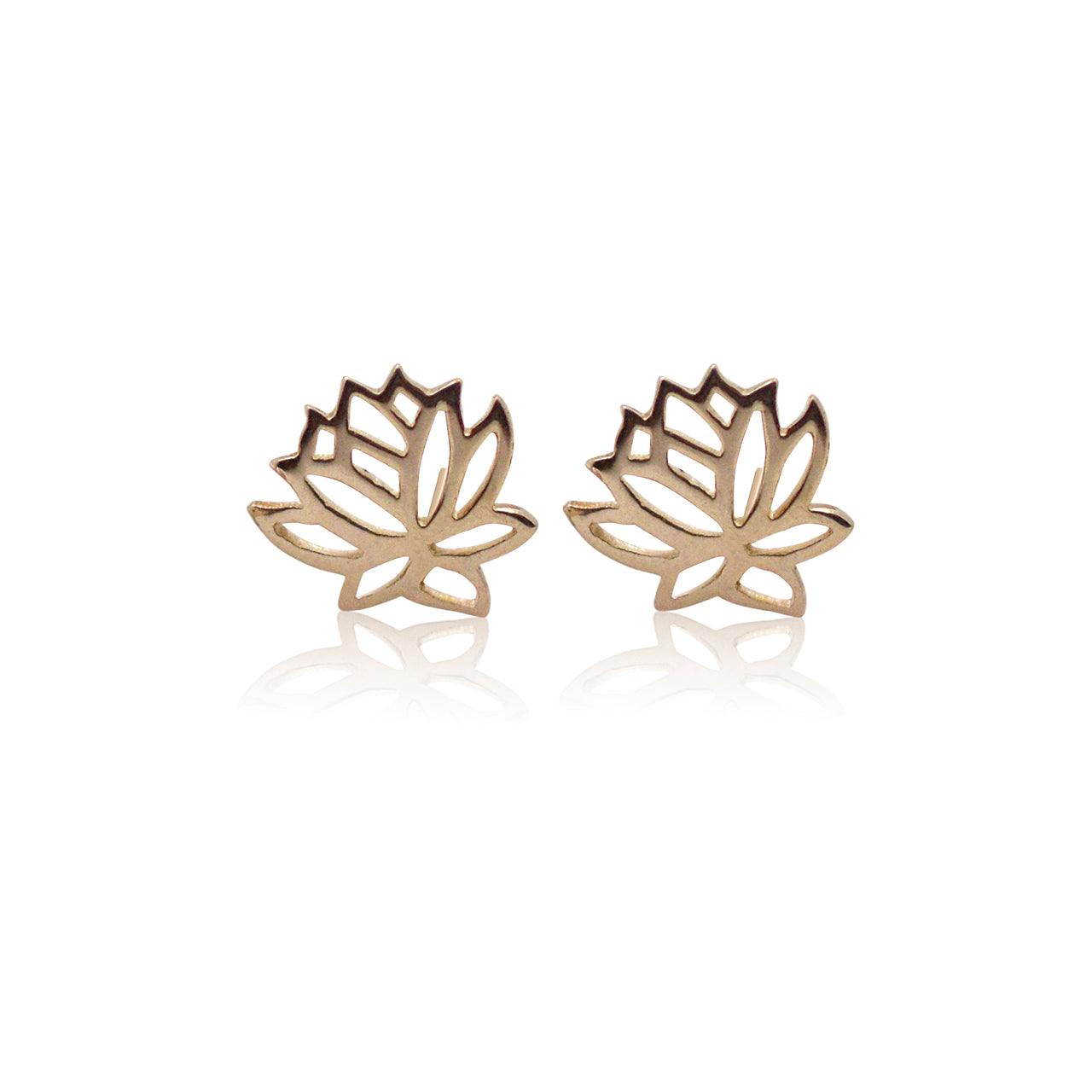 Lotus Flower Studs - Gold