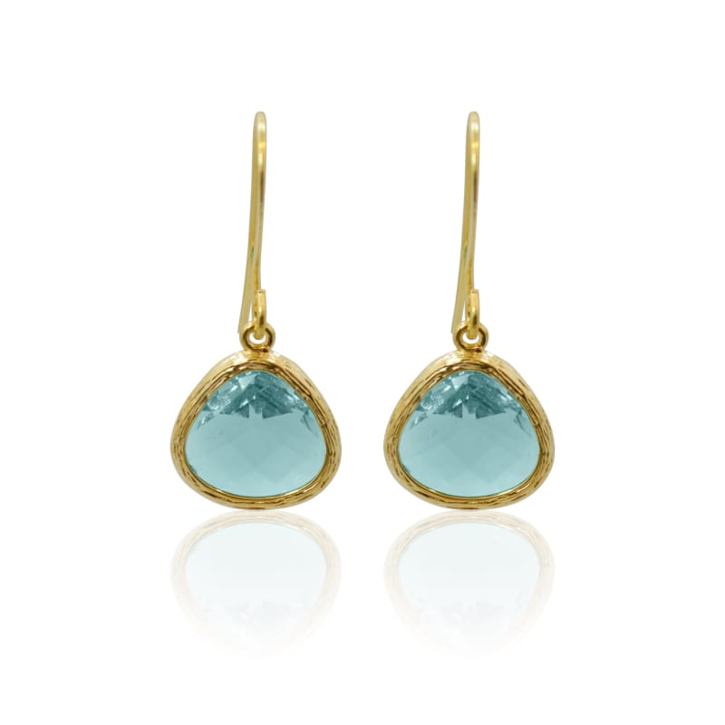 Mini Drops Aqua Gold earrings