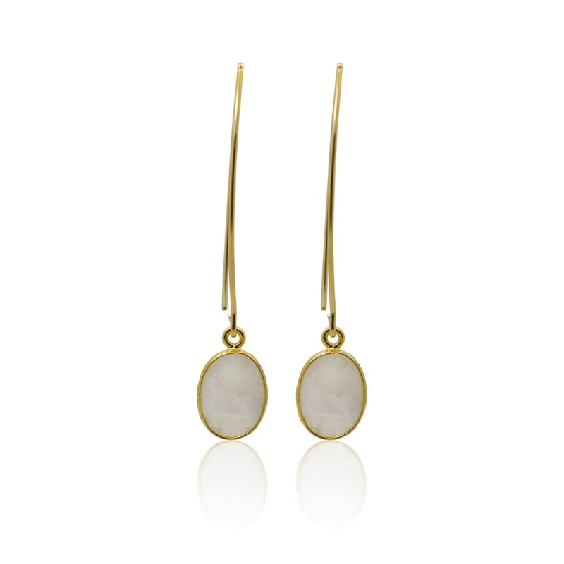 Moonstone Drop Earrings Earrings