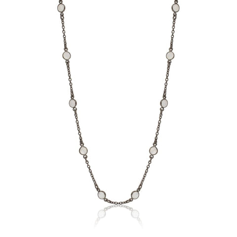 Crystal Third Eye Choker - Silver