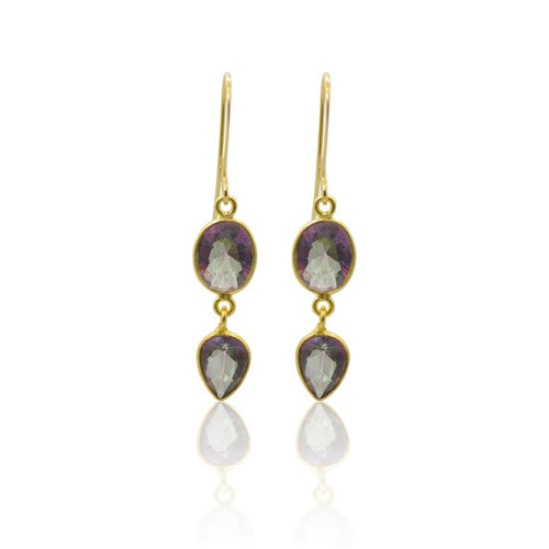 Mystic Topaz 2 Piece - Gold Earrings earrings