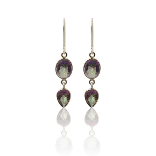 Mystic Topaz 3 Piece - Silver Earrings Earrings
