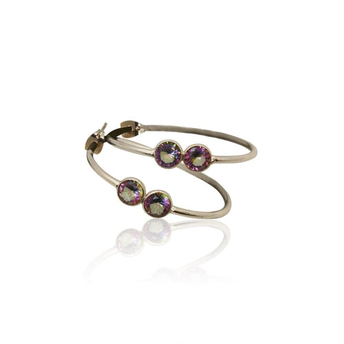 Mystic Topaz Hoop Earrings - Silver earrings