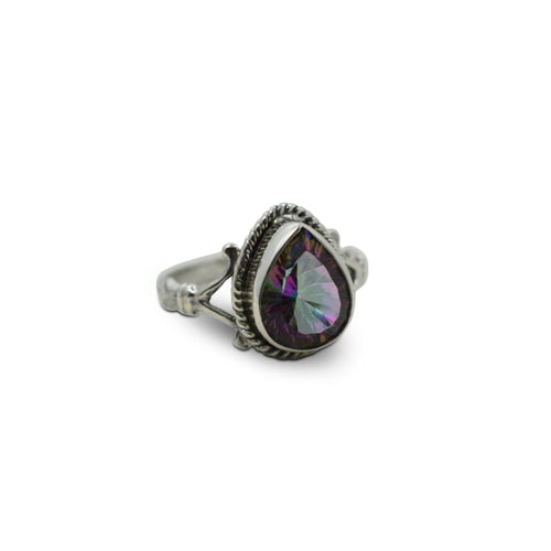 Mystic Topaz Pear Shaped - Size 7 Ring