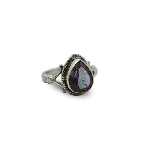 Amethyst Poison Ring - Size 7