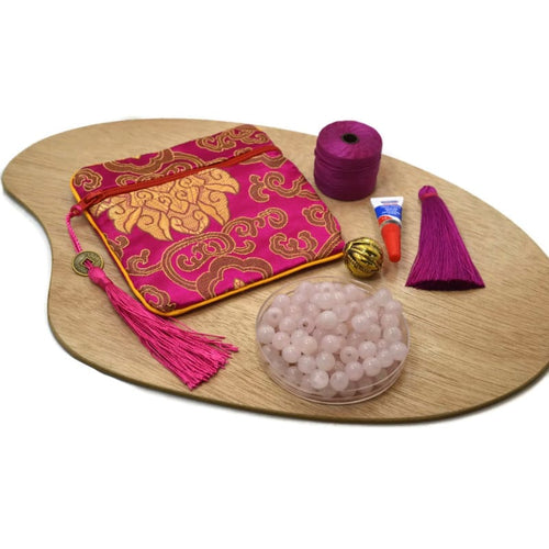 Nepali Guru - Diy Mala Kit - Rose Quartz - Love And Healing Mala Kit