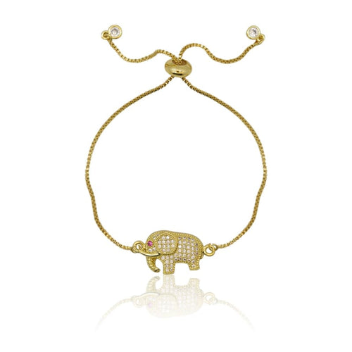 NEW ARRIVAL Elephant - Adjustable Gold Bracelet bracelet