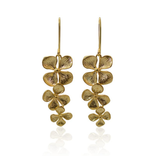 Orchid Earrings - Gold earrings
