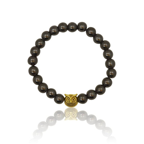Kitty Cat Stretch Bracelet - Lava Rock