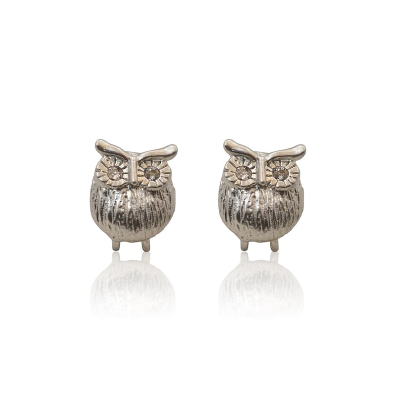 Owl Stud Earrings - Silver earrings