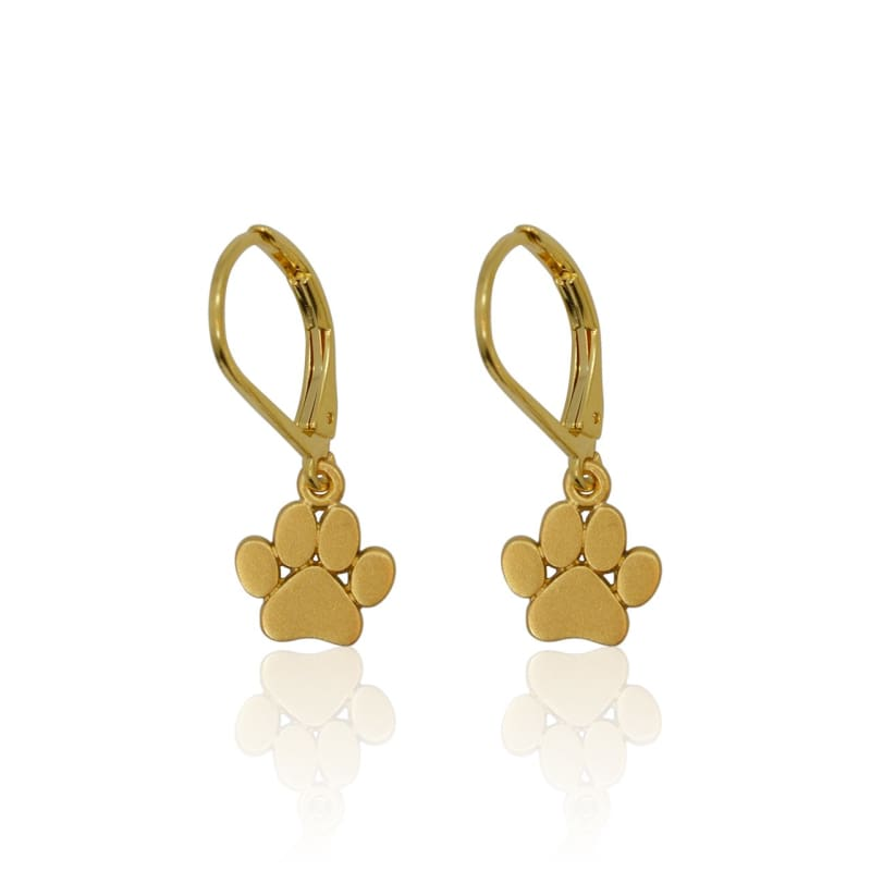 Paw Earrings - Gold earrings