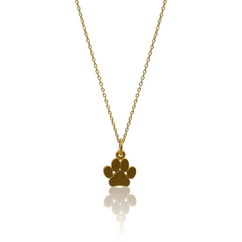Paw Necklace - Gold 16 necklace